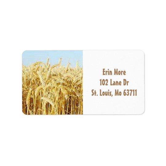 Wheat Field Label