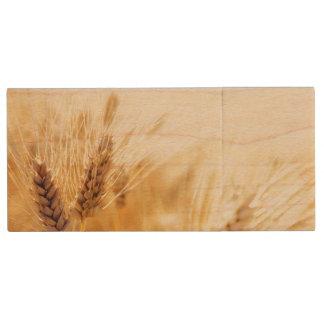 Wheat field wood USB 2.0 flash drive