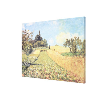 Wheat Field (oil on canvas) Gallery Wrapped Canvas