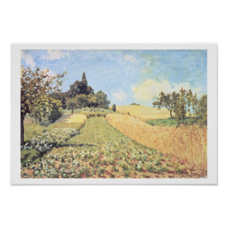 Wheat Field (oil on canvas) Posters