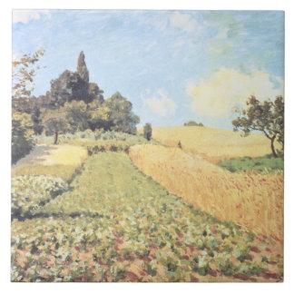 Wheat Field (oil on canvas) Ceramic Tile