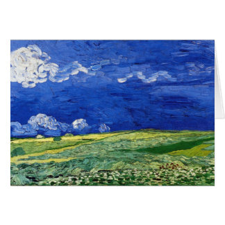Wheat Field under Clouded Sky by Van Gogh Card