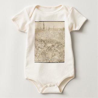 Wheat Field - Van Gogh Baby Bodysuit