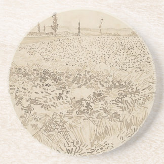 Wheat Field - Van Gogh Coaster