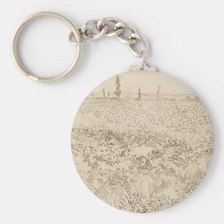 Wheat Field - Van Gogh Key Ring