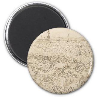 Wheat Field - Van Gogh Magnet