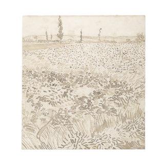 Wheat Field - Van Gogh Notepad