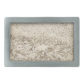 Wheat Field - Van Gogh Rectangular Belt Buckle