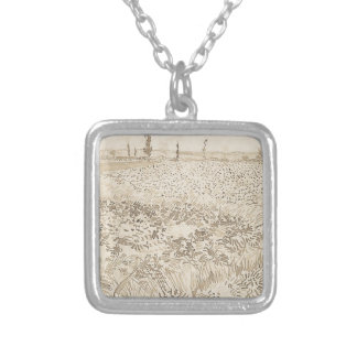 Wheat Field - Van Gogh Silver Plated Necklace