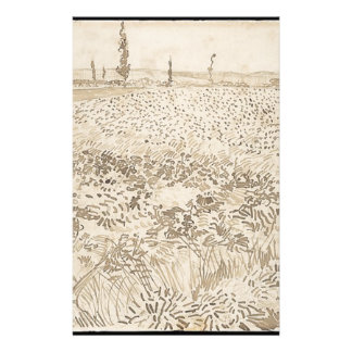 Wheat Field - Van Gogh Stationery