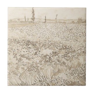 Wheat Field - Van Gogh Tile