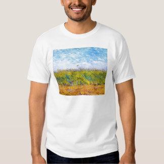 Wheat Field with a Lark by Vincent Van Gogh Tee Shirt