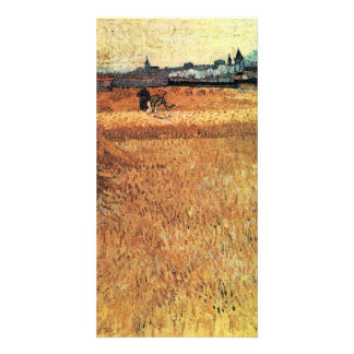 Wheat field with a view of Arles by van Gogh Photo Card Template