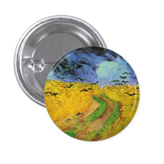 Wheat Field with Crows 3 Cm Round Badge