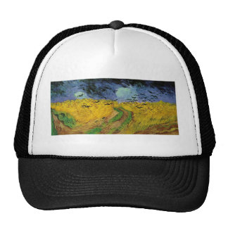 Wheat Field with Crows Mesh Hats