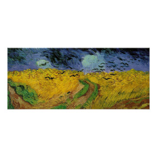 Wheat Field with Crows Post-Impressionist Poster