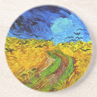 Wheat Field with Crows Van Gogh Fine Art Coaster