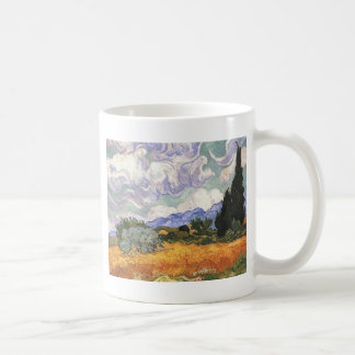 Wheat Field with Cypress by Van Gogh. Mugs