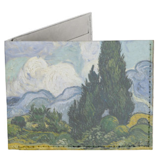 Wheat Field with Cypresses by Vincent van Gogh Tyvek® Billfold Wallet