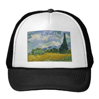 Wheat Field with Cypresses by Vincent van Gogh Hat