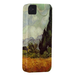 Wheat Field with Cypresses by Vincent van Gogh iPhone 4 Covers