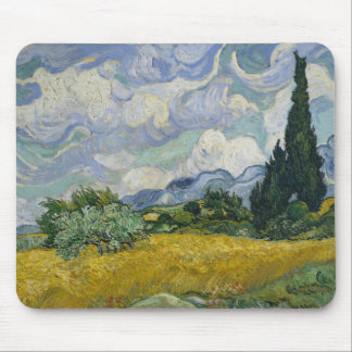 Wheat Field with Cypresses by Vincent van Gogh Mouse Pad