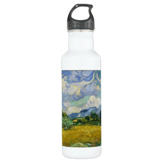 Wheat Field with Cypresses by Vincent van Gogh 710 Ml Water Bottle