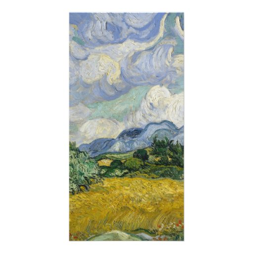 Wheat Field with Cypresses by Vincent van Gogh Picture Card