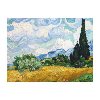 Wheat Field with Cypresses Canvas Canvas Print