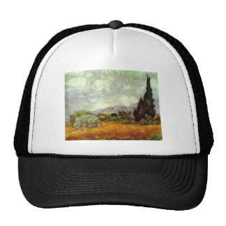 Wheat Field with Cypresses Hats