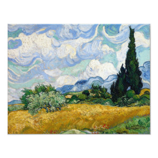 Wheat Field with Cypresses Invitation
