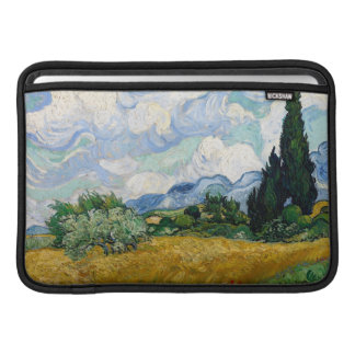 Wheat Field with Cypresses Macbook Air Sleeve