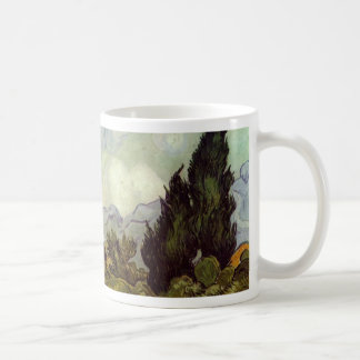 Wheat Field with Cypresses Mug