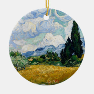 Wheat Field with Cypresses Ornament