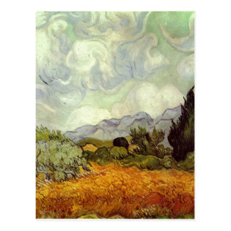 Wheat Field with Cypresses Post Card