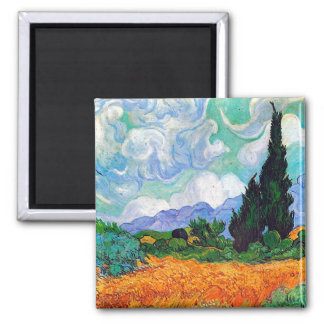 Wheat Field with Cypresses Van Gogh Fine Art Magnet
