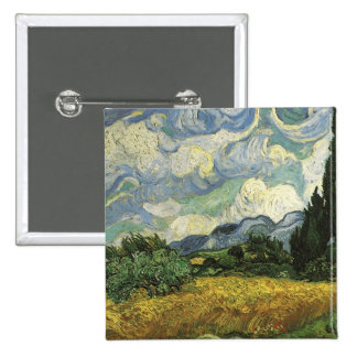 Wheat Field with Cypresses Vincent Van Gogh Pins
