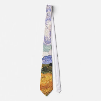 Wheat Field with Cypresses,Vincent Van Gogh Tie