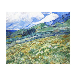 Wheat Field with Mountains by van Gogh Canvas Prints
