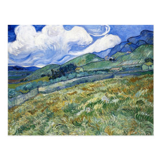 Wheat Field with Mountains by Vincent van Gogh Postcard