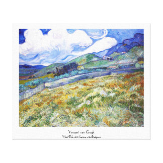 Wheat Field with Mountains in the Background Gallery Wrap Canvas