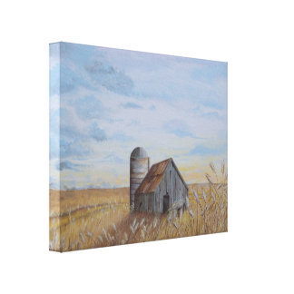 Wheat Field Wrapped Canvas Print