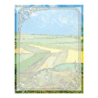 Wheat Fields at Auvers Under Clouded Sky 21.5 Cm X 28 Cm Flyer