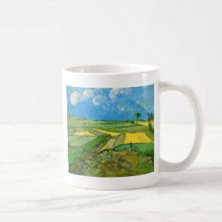 Wheat Fields at Auvers Under Clouded Sky, Vincent Coffee Mugs
