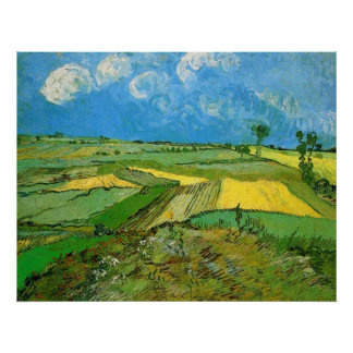Wheat Fields at Auvers Under Clouded Sky, Vincent Poster