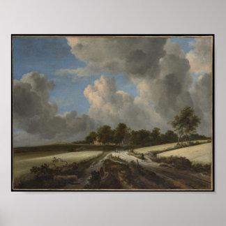 Wheat Fields, Jacob van Ruisdael Poster