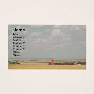 Wheat Fields Landscape Photo Business Card