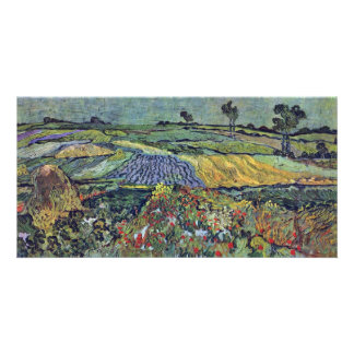 Wheat Fields Near Auvers By Vincent Van Gogh Photo Card
