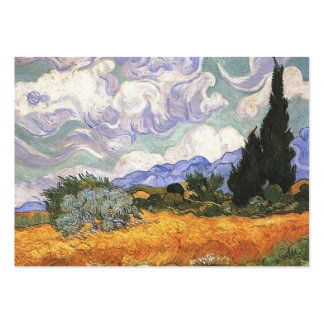 wheat fields with cypresses, Van Gogh Business Card Templates