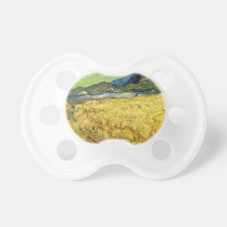 Wheat Fields with Reaper at Sunrise - Van Gogh Baby Pacifier